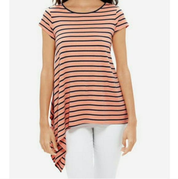 The Limited Tops - The Limited Asymmetrical Stripe Tee Sz S